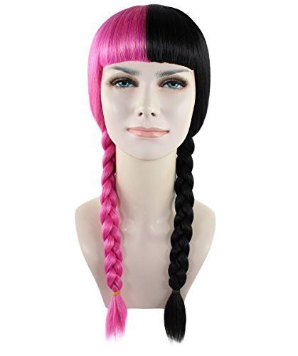 American Singer Braided Wig, Pink/Black Adult HW-1358 ()