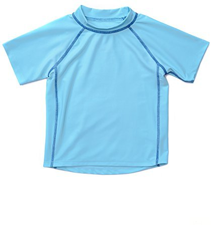 Leveret Short Sleeve Rash Guard (2 Toddler, Blue)