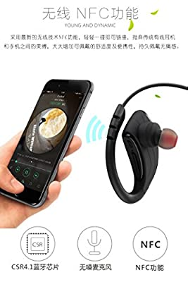 FEIDOL Bluetooth Headphones, NFC Wireless Sports Earphones IPX7 Waterproof with Mic Silicone Earbuds Noise Cancelling for Running Workout Gym Stereo Audio Headset (HDC-U1, Black)