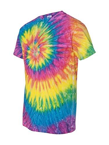 Dyenomite Men's Heavyweight Preshrunk Ripples T-Shirt, XL, Pastel Ripple