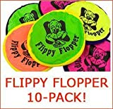 Flippy Flopper Flying Disc for Dogs (10-Pack, Large), My Pet Supplies