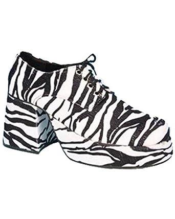 f8efa4d21a4ec Pimp Adult Costume Shoes Zebra Print - Small