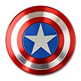 BFO Captain America Metal Fidget Spinner with High Speed Bearing in Metal Protective Case, Finger Spinner, ADHD Hand Spinner, 3-5+ min spin time