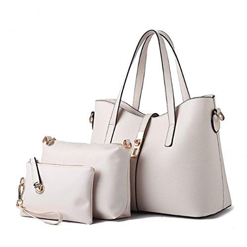 insieme di sintetica Un Borsa bianca tracolla pezzi pelle da in tre Bag Womens borsa Hot Travel a viaggio Fashion borsa d5zqzwr