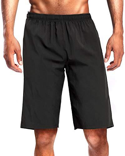 CAMEL CROWN Sportshorts voor heren, sneldrogend, korte broek, hardloopbroek met zakken, licht, ademend, voor hardlopen…