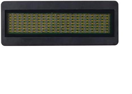 Mazudr LED-Namensschild Zeichen Scrolling Werbung/Visitenkarte Display Display Tag/Programmierer/Bestellung Digitalanzeige Englisch Großhandel Tech (Farbe: Weiß)