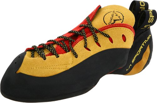 La Sportiva Testarossa Climbing Shoe - Red/Yellow 40.5 by La Sportiva