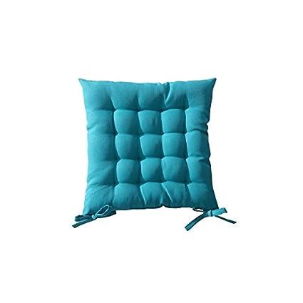 AC-Déco Galette de Chaise matelassée 40 x 40 cm - Bleu ...