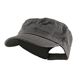 Wholesale Enzyme Washed Cotton Army Cadet Castro Hats (Grey) - 20770