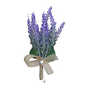 """DALAMODA Pin Corsage/Boutonniere-7"""" Lavender Artificial Plastic Lavender Flower,Beautiful Flower for Wedding Prom Groom Boutonniere Man,Any Party Decoration (Pin Included) (Lavender) 45"""