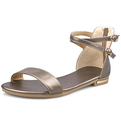 Bohemia simples mujer bin Golden Zapatos planas Flats Sandalias jin xiang para verano de COOLCEPT xg6AE