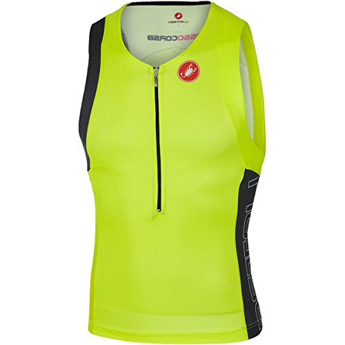 Castelli Free Tri Top - Men's - yellow fluo/anthracite, - Mens Top Tri
