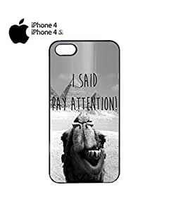 I Said Pay Attention Photo Bombing Camel Mobile Cell Phone Case Cover iPhone 4&4s Black