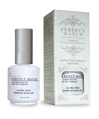 LECHAT Perfect Match Varnish Base Gel, Ultra Thin, 0.500 Ounce