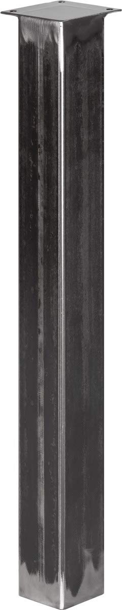 HLT-14A-J-72-9005 Altezza: 72 cm HOLZBRINK Gamba per Tavolo Profilo Quadrato in Acciaio 80x80 mm Nero Intenso 1 pz