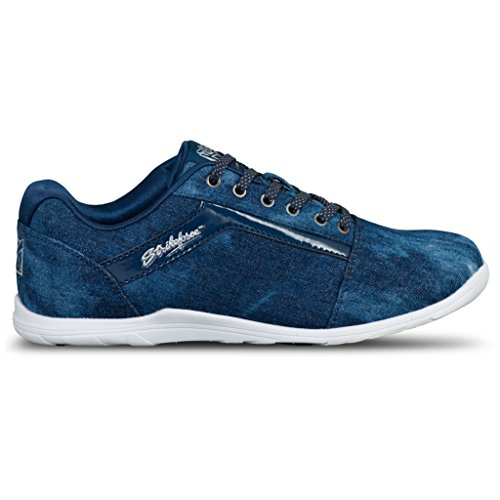 KR Strikeforce Women's Nova Lite Bowling Shoes, Denim Sparkle, Size 8