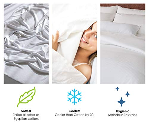 Full - Grey Softest Thermal Regulating Bedding Cooling Luxury Bed Sheet Set Moisture Wicking Lyocell Derived from Eucalyptus Jvin Fab 100/% Organic 300 Thread Count Tencel Sheets