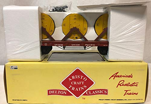 (Aristo Craft Trains Flat Car w/Cable Reel Load ART-86412 Union Pacific)