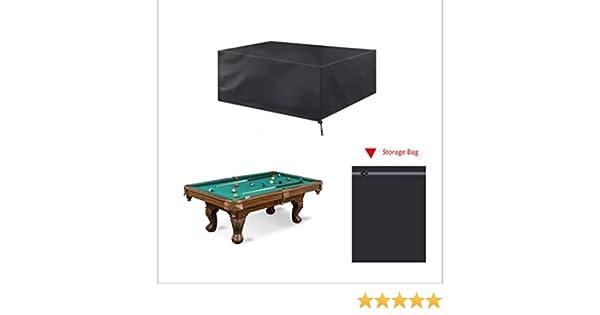 Mitef - Funda para Mesa de Billar de 7/8/9 pies, Impermeable, Tela Oxford Rectangular, Color Negro: Amazon.es: Deportes y aire libre