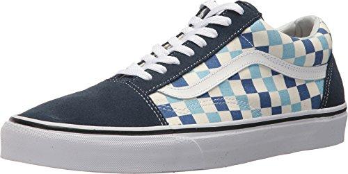 Vans U Old Skool (QCM) (Checkerboard) Blue Topaz/Blue (13 Women/11.5 Men M US) by Vans (Image #9)