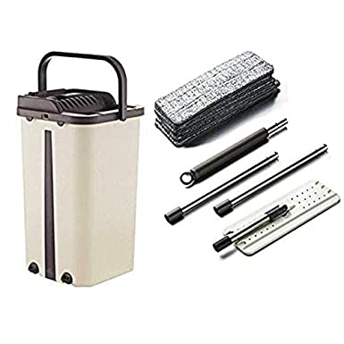 koiry Dust Wizard Mop Cleaning Tool Kit 360 Degree Rotating Tile Marble Floor for Living Room Kitchen