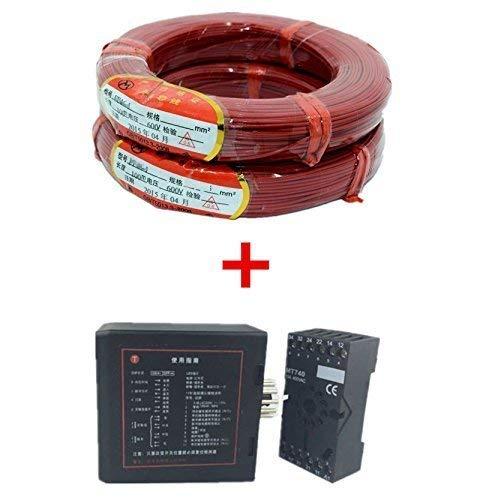 Détecteur de Sol pour véhicule à Induction - Boucle de véhicule à Canal Unique + 50 m/Rouleau - Câble à Induction