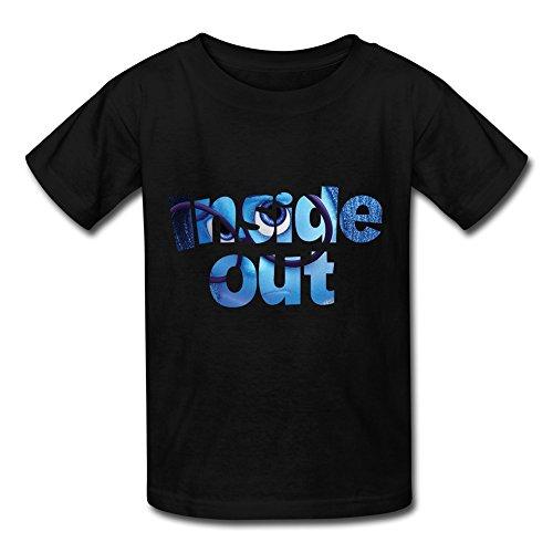 Inside Out Comedy Cotton T Shirt For Kids MJ Big Girls' Tee Shirt Black S