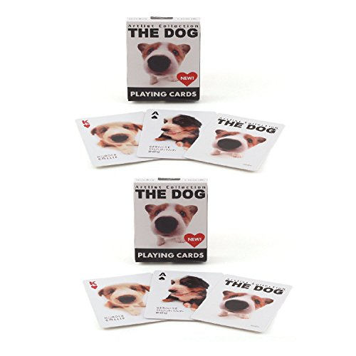 Dog Playing Cards - Bicycle The Dog Artlist Collection Playing Cards (2-Pack)