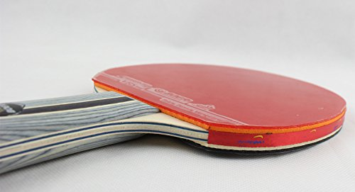 Larsuyar Advanced Trainning Table Tennis Paddle with Carrying Bag- 7 ply Wooden Blade with Long Handle (1 Star Shakehand Racket) by BOER (Image #2)