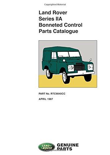 Land Rover Series 2A Bonneted Control Parts Catalog (Official Parts Catalogue)