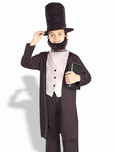 Kids Boys Costume Historical Abe Lincoln Outfit Set L Boys Large (US size 12-14) -