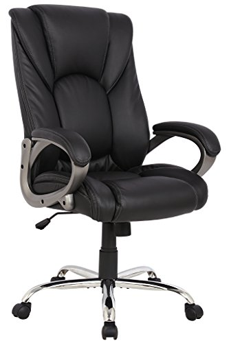 Swivel Task Office Chair (VIVA OFFICE Swivel Office Chair, Black PU Leather)