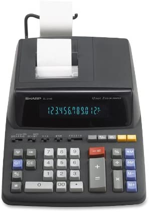 Sharp EL2196BL Standard Function Calculator, Black