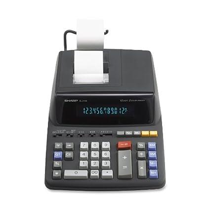 amazon com el 2196bl desktop calculator 12 digit fluorescent 2 rh amazon com sharp adding machine manual el-2196bl sharp el-2196bl instructions