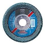 PFERD Polifan Abrasive Flap Disc, Large Radius, Radial Shape, Round Hole, Phenolic Resin Backing, Zirconia Alumina, 5'' Dia, 40 Grit (Pack of 1)