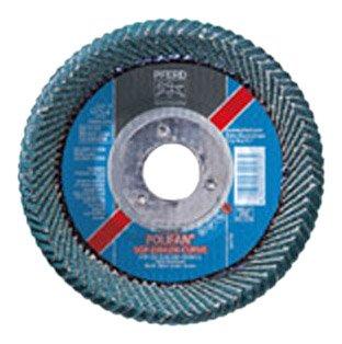 PFERD Polifan PSF Abrasive Flap Disc, Large Radius, Radial Shape, Round Hole, Phenolic Resin Backing, Zirconia Alumina, 5 Dia., 40 Grit (Pack of 1)