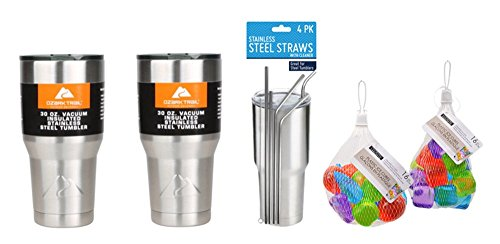 Ozark Trail 30 Oz Insulated Stainless Steel Tumbler Bundle -