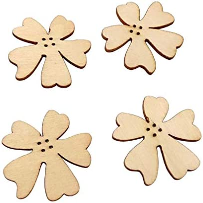 HEALLILY 20ピース/セット花木製カットアウト工芸ぶら下げ装飾子供diy落書きスクラップブッキング家の装飾