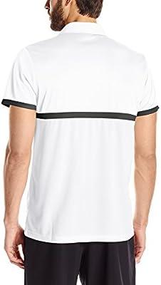 adidas Polo para tenis de hombre - S1607M606, Blanco/Negro: Amazon ...