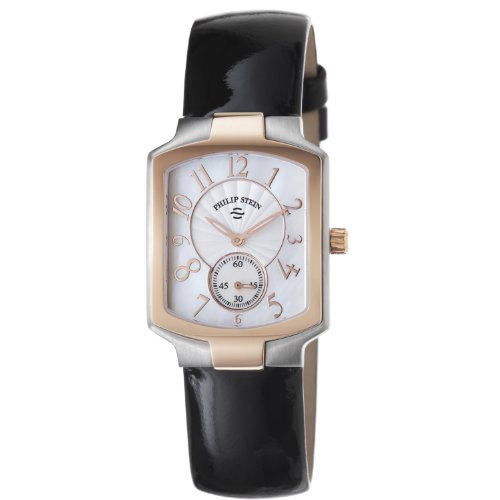 Philip Stein Women's 21TRG-FW-LB Classic Black Patent leather Strap Watch
