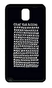 Galaxy Note 3 Case, Note 3 Cases - Count Your Blessings Black Soft Rubber Bumper Case for Samsung Galaxy Note 3 N9000 TPU Black