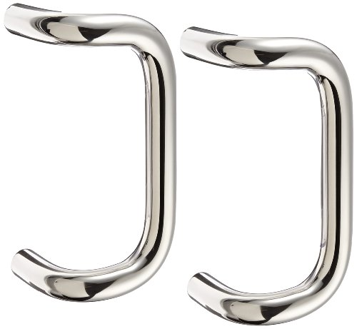 Rockwood BF156BTB16.32 Stainless Steel 90-Degree Offset Door Pull, 1'' Diameter x 8'' Center-to-Center, Back To Back Mounting for 1-3/4'' Door, Polished Finish by Rockwood