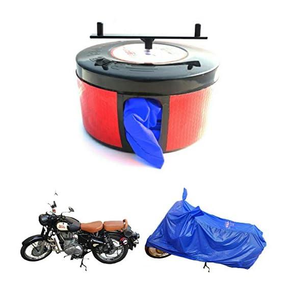 BIKEBLAZER Semi Automatic Bike Cover for Yamaha R15, FZ, Fazer, R1, Saluto Cobalt Blue Water Resistant