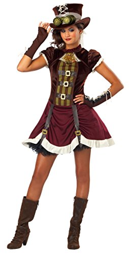 California Costumes Steampunk Girl Tween Costume, ()