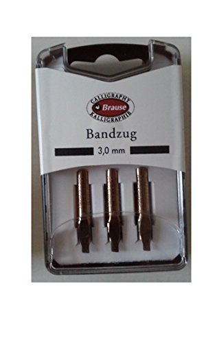 Bandzug 3180/3 Set of 3 Nibs 3.0mm for Calligraphy Pens by Bandzug (Image #1)
