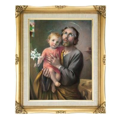 St. Joseph Framed Art by Discount Catholic Store