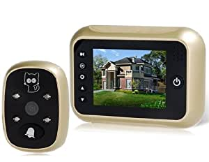 T115 3.5 TFT LCD Color Screen Digital Door Bell Peephole Viewer Camera with Recorder, Wide-angle and Night Vision