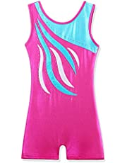BAOHULU Leotard for Girls Gymnastics Toddler Sparkle Embroidery Tank Biketards One Piece