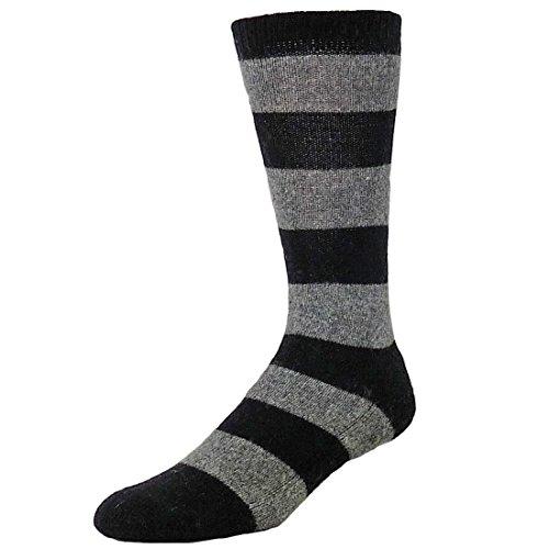 B.ella Men's Nicolo Rugby Crew Socks, Caviar, Large