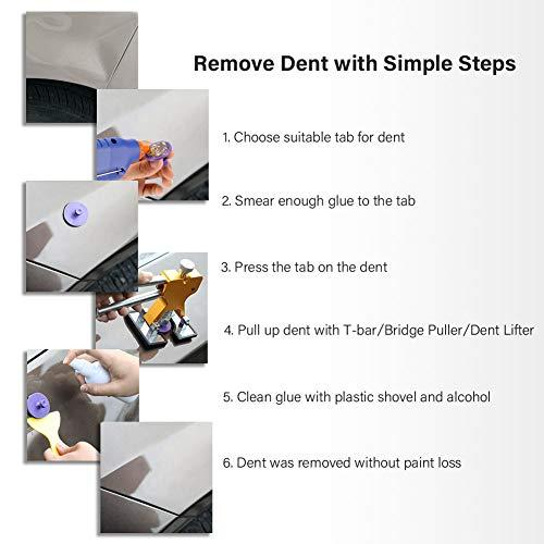 BBKANG Paintless Dent Repair Tools - Car Dent Removal Kit Golden Dent Lifter Bridge Dent Puller Kit Safe Glue Sticks Pops a Dent Tool for Car Dent Door Ding Hail Dent Remover Repair by BBKANG (Image #6)